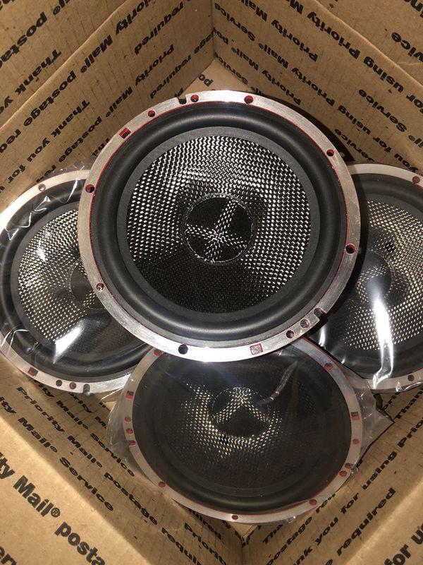 "Only 2 left Audiophile/pro audio 6.5"" mids 250watts. Amazing build quality! Set of 4"