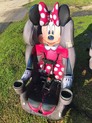 disney minnie mouse kids car seat booster seat FIRM PRICE NO DELIVERY CASH OR TRADE FOR BABY FORMULA for Sale in Los Angeles, CA