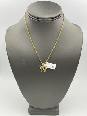 10KT YELLOW GOLD FRANCO LINK CHAIN w/ 14KT YELLOW GOLD BUTTERFLY CHARM for Sale in Rialto, CA