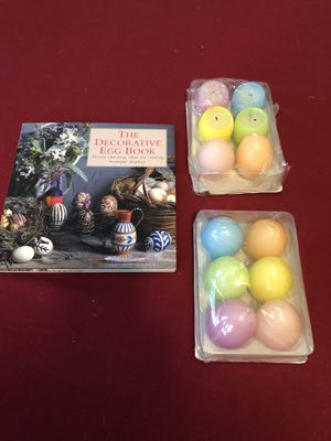 The decorative egg book and 12 egg candles for Sale in Mechanicsburg, PA