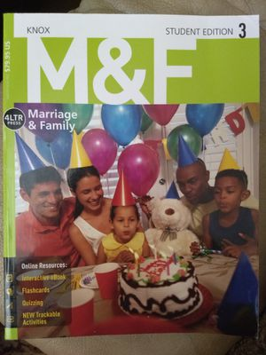 Marriage & Family Student Edition Textbook 3 for Sale in Wichita, KS