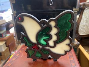 Stain Glass Holly/ dove candle holder for Sale in Chandler, AZ