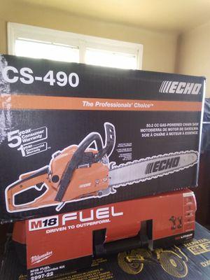 "New Echo 20"" chain saw ( cs490 ) 50.2 cc gas powered chain saw for Sale in Dinuba, CA"