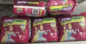 Girls Huggie night time Pull Ups 3t-4t(5bags left) for Sale in Cleveland, OH