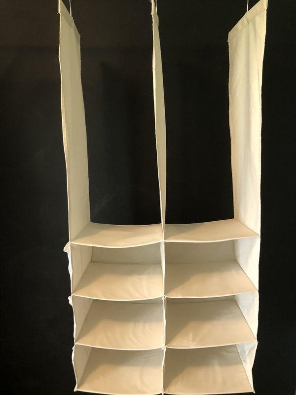 Hanging Canvas Closet Organizer - 8 compartments