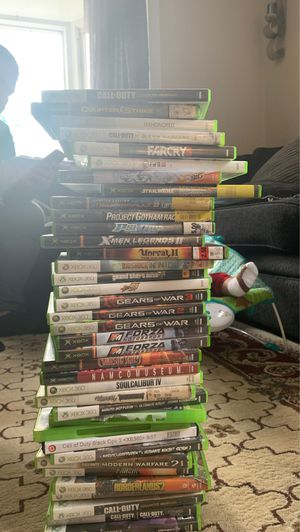 37 Xbox 360 games for 125$ discs are inside for Sale in Wheaton, MD