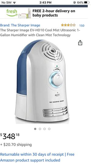 Cool Mist Ultrasonic Humidifier for Sale in Annandale, VA