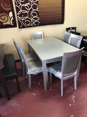 Furniture table with six chairs Furniture empire $39 down paymentOpen 7 days a week 9:30-8pm Finance available 1486 West Buckingham Rd. garland TX 7 for Sale in Garland, TX