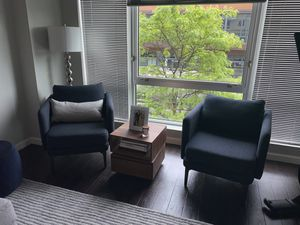 West Elm navy lounge chairs for Sale in Boston, MA