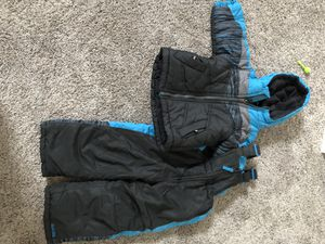 Like new 18 month toddler Pacific trail snow suit coat and snow bibs for Sale in Puyallup, WA