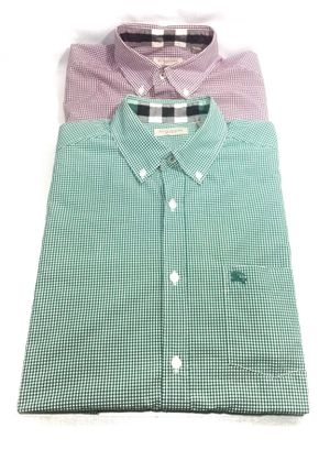 Burberry Brit Lot Mens Button Down Shirt Red Green Plaid Medium for Sale in Austin, TX