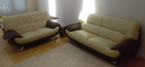 Leather Couch set for Sale in Chicago, IL