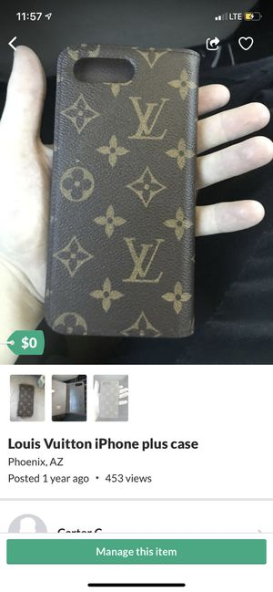 Louis Vuitton iPhone plus case for Sale in Phoenix, AZ