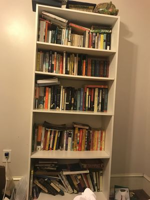 white bookcase for Sale in Boston, MA