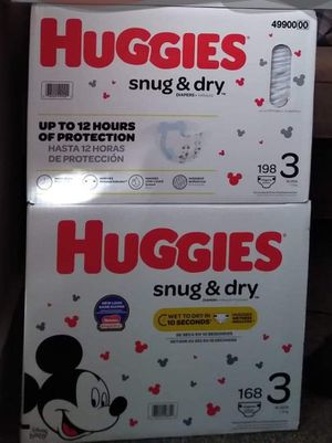 Huggies size 3 , 2 boxes for Sale in Kent, WA