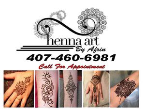 Henna art by afrin for Sale in Kissimmee, FL