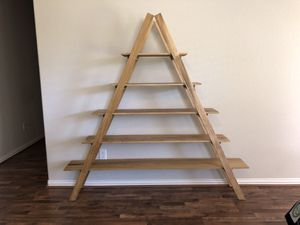 5 tiered wooden Ladder shelf for Sale in Rosharon, TX