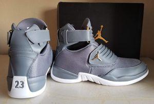 Brand New Jordans grey w/ gold hardware for Sale in North Miami Beach, FL