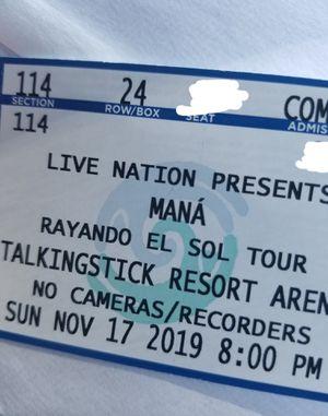 2 mana tickets 260 por los 2 for Sale in Phoenix, AZ