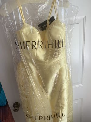 Sherri Hill Light Yellow dress elegant prom size 6. Style 52638 for Sale in Philadelphia, PA