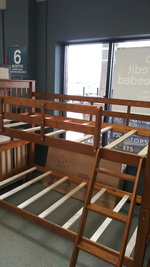 Mapple bunk bed frame twin mattress not included twin size bed for Sale in Columbus, OH