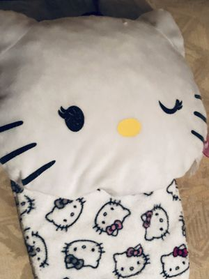 Hello Kitty Adorable White Pillow and Matching Snuggly Sleep Pants for Sale in Ellenwood, GA
