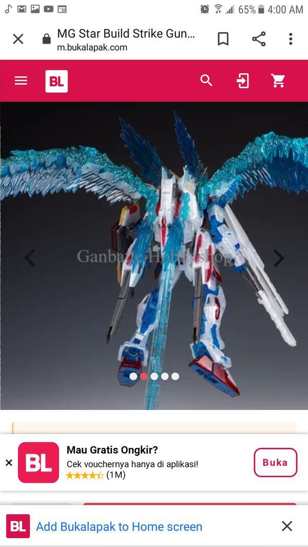 "Gundam ""STAR BUILD STRIKE GUNDAM(RF SYSTEM Ver.) FANTASTIC!"