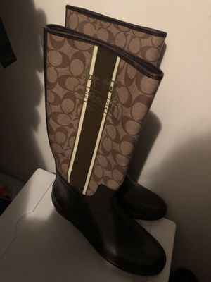Coach rainy boots size 10 for Sale in Annandale, VA