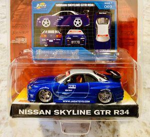#069 Nissan Skyline GTR R34 | Jada Toys 2003 | 1:64 Scale Diecast Import Racer! for Sale in Seattle, WA
