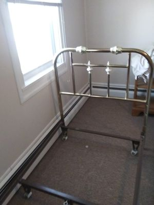 Single Bed Brass Headboard w/ Bed frame for Sale in Bloomsburg, PA