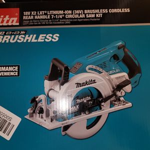 Makita 36v X2 LXT Brushless Cordless Rear Handle Circular Saw for Sale in Las Cruces, NM