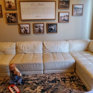 white leather Italian couches for Sale in Camas, WA