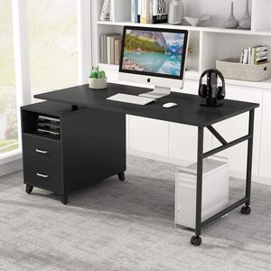 Tribesigns Computer Desk with Reversible Storage Cabinet for Sale in Murfreesboro, TN