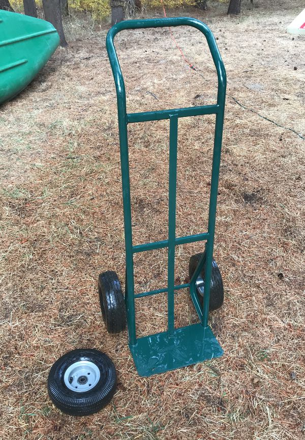 600 lb capacity steel hand truck with spare tire