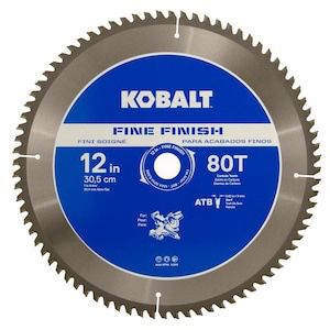 Kobalt 12-in 80-Tooth Segmented Carbide Circular Saw Blade For Use on Composite Decking for Sale in Bayville, NJ