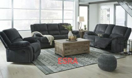 Draycoll Reclining Sofa & Loveseat 💕🦋💙no credit CHECK 🌹🥰🥳same day delivery for Sale in Houston,  TX