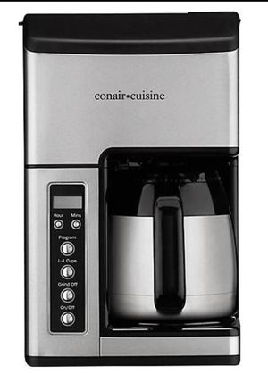Conair Cuisine Coffee Grinder & Maker Brewer 10 Cup Silver NEW, FREE SHIPPING TO LOWER 48 for Sale in Bloomfield, CT