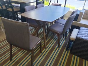 New 7pc dining room table set tax included delivery available for Sale in Hayward, CA