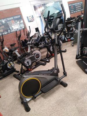 Ready to work out! Did you see our Golds Gym Small Elliptical Bike-3 year warranty for Sale in Los Angeles, CA