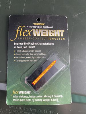 Flex Tee Rubber Tungsten Golf Club Weights Pack Of 8 for Sale in Lancaster, PA