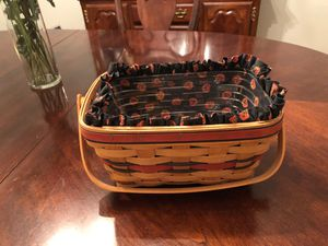 Longaberger Halloween basket with liner and protector for Sale in Shrewsbury, MA