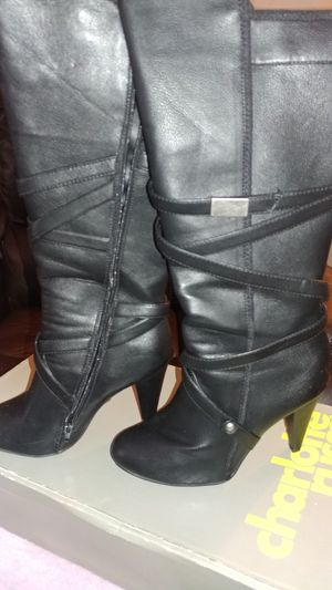 Women's Black Leather Boots for Sale in Peoria, IL