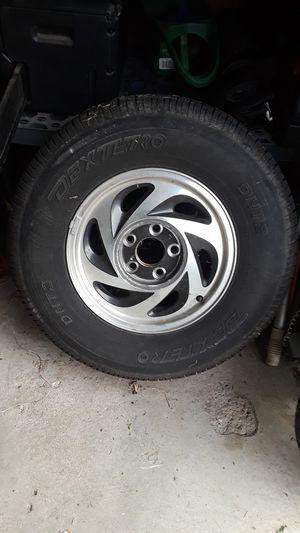 Chev. 235/75R15 off blazer with rim . Also trailer tire 13 in. 5 lug for Sale in O'Fallon, MO