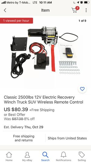 Brand new winch electric wireless for truck or jeeep for Sale in Seattle, WA