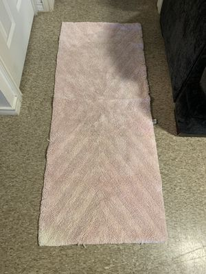 Blush Pink runner bathroom rug for Sale in Odessa, TX