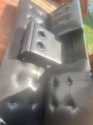 Faux Leather Futon for Sale in Buffalo, NY