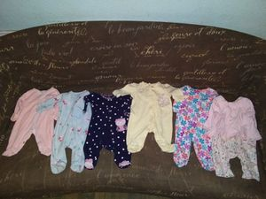 Baby girl clothes size Newborn 64 pcs + newborn diapers for Sale in San Antonio, TX