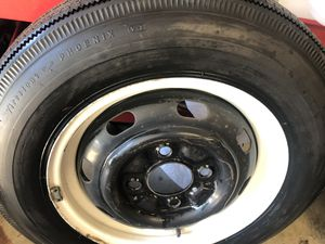 VW bug Firestone 560 x 15 black wall bias tire on 4 lug Vw rim. for Sale in Chino Hills, CA