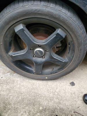 Black 17 inch 5 lug rims and tires for Sale in Sanford, FL