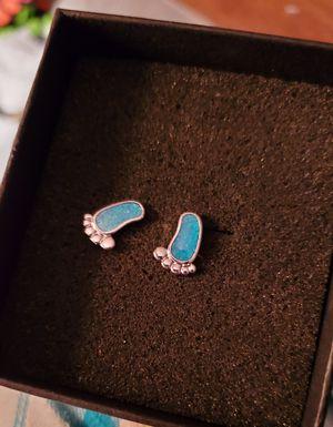 New Sterling Silver Earrings Baby Feet for Sale in Memphis, TN
